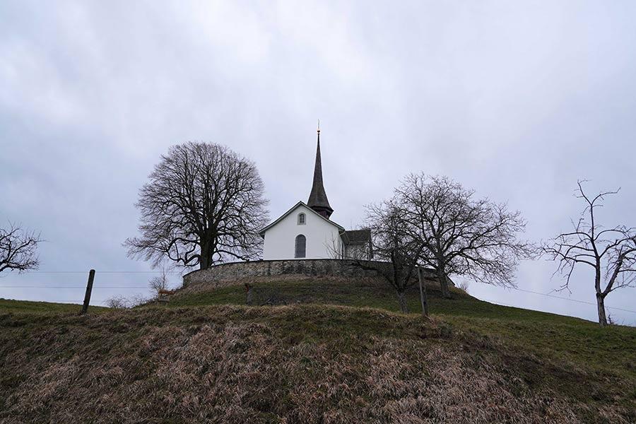 Die Alte Kirche von Witikon Zürich war einst dem heiligen Otmar geweiht