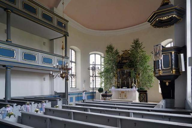 Evangelische Kirche Aha - Innenansicht
