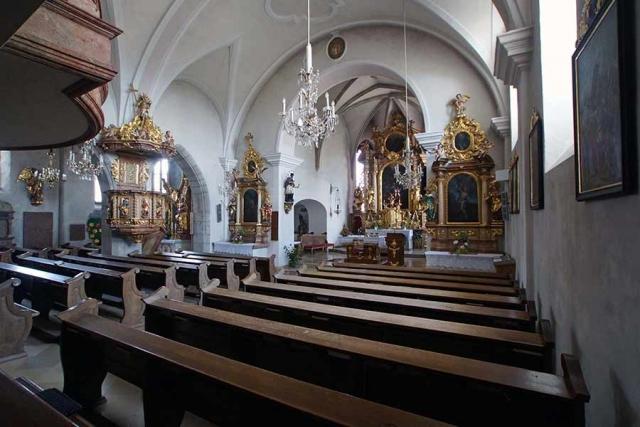 Innenansicht Sankt Otmar Kirchberg ob der Donau