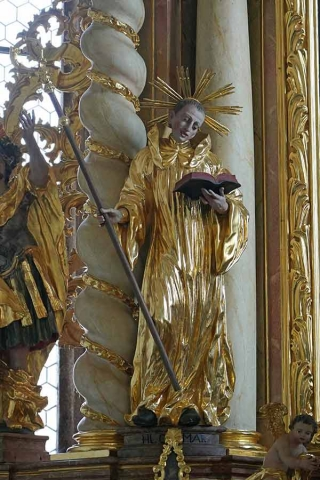 Sankt Otmar statue Kirchberg ob der Donau