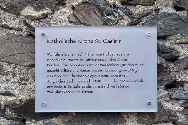 Die Kirche St. Casimir ersetzt eine ältere Wallfahrtskapelle St. Otmar.
