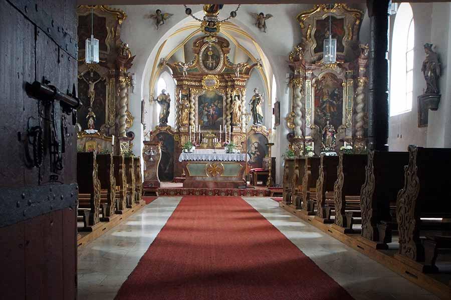 Pfarrkirche Sankt Othmar Pfettrach - Innenansicht
