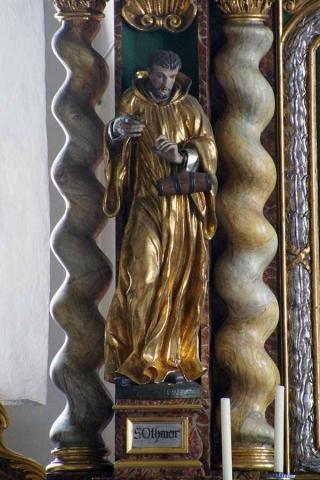Pfarrkirche Sankt Othmar Pfettrach - Othmarstatue