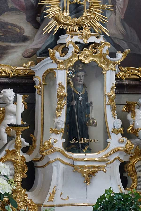 Sankt Otmar und Juliana Attenhausen - Otmarstatue