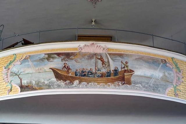 Sankt Otmar und Juliana Attenhausen - Emporengemälde