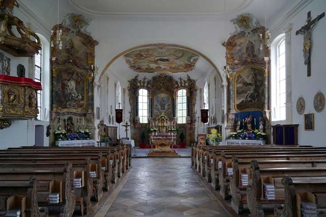 Kirche Sankt Otmar in Eutenhausen - Innenansicht