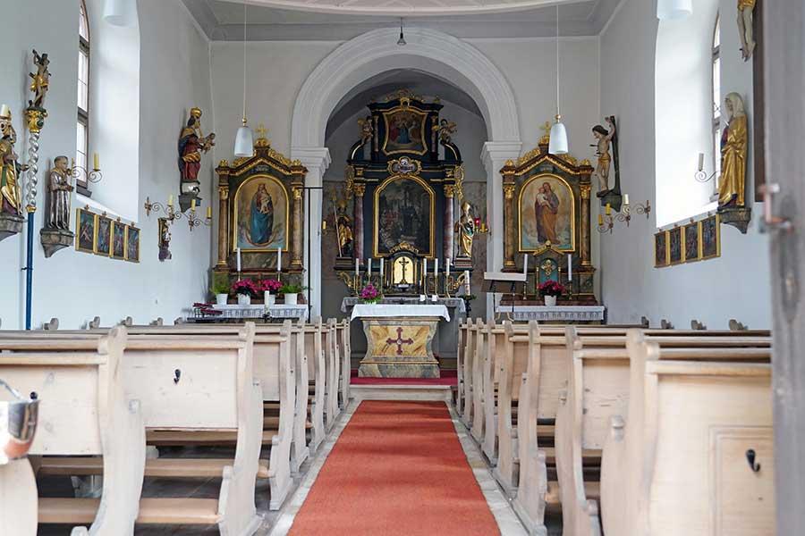 Sankt Otmar Ottmaring - Innenansicht