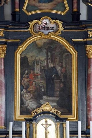 Sankt Otmar Ottmaring - Hochaltarbild
