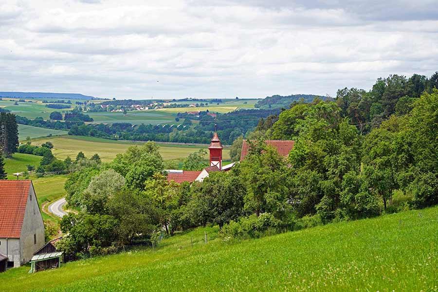 Kapelle Sankt Otmar Ottmarsfeld - Fernansicht