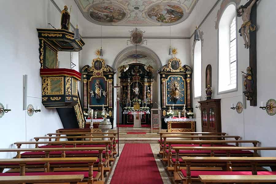 Kirche Sankt Ottmar Enkering - Innenansicht