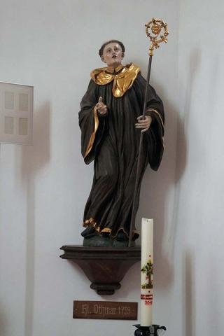 Kirche Sankt Othmar Pupping Statue Sankt Otmar