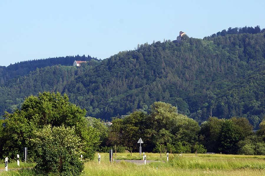 Kloster Frauenberg und Ruine Alt-Bodman bei Bodman am Bodensee
