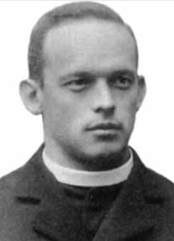 Fotografie des jungen Priesters Alois Scheiwiler, später Abt von St.Gallen